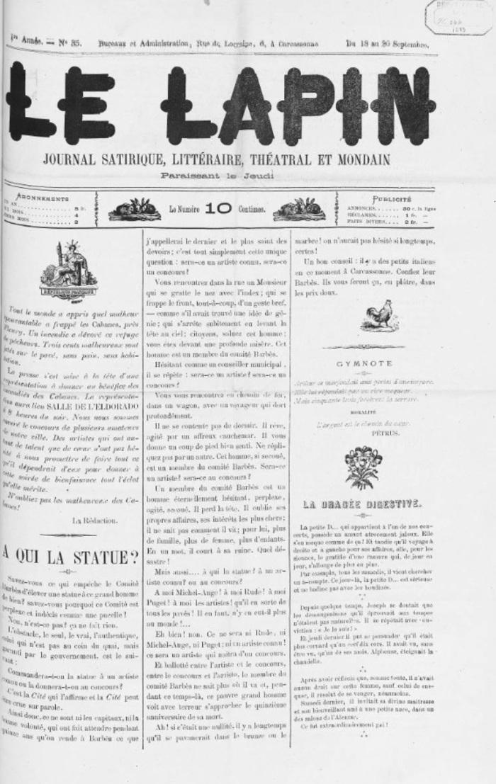 Journées du patrimoine 2020 - La presse carcassonnaise aujourd'hui, hier et avant-hier