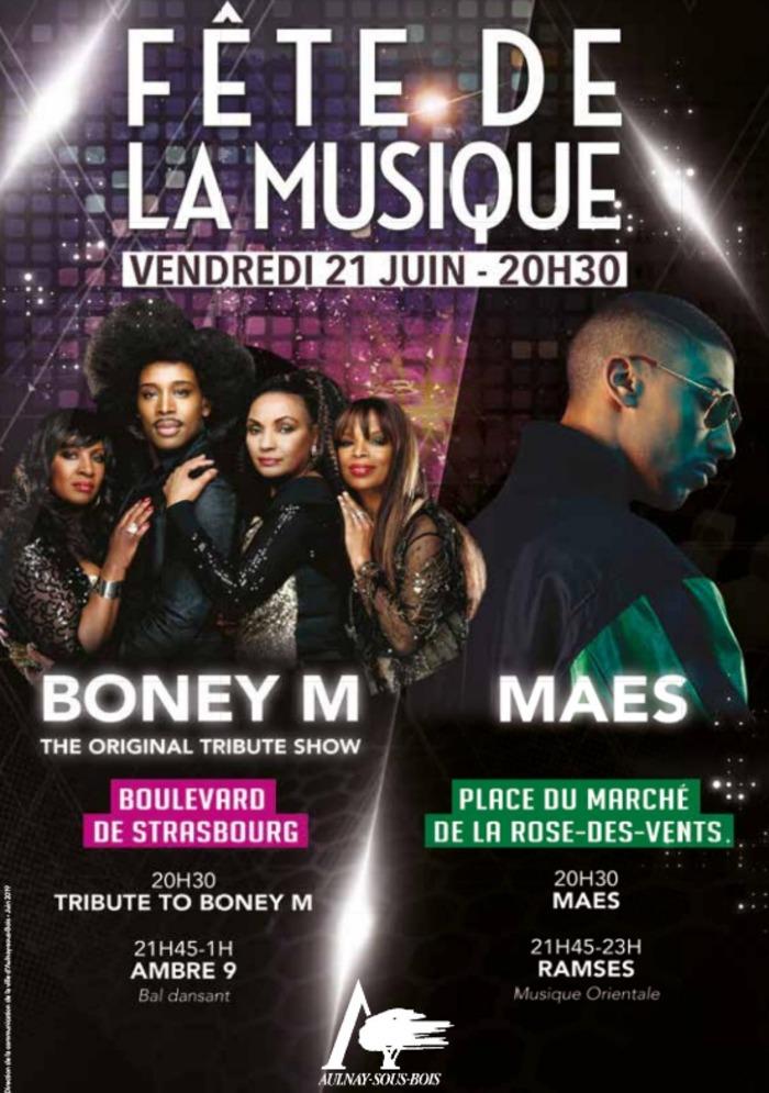 Fête de la musique 2019 - Boney M The original Tribute show + Ambre 9
