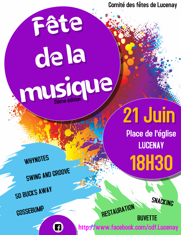 Fête de la musique 2019 - Whynotes / Swing and Groove / 50 Bucks Away / Gossebump