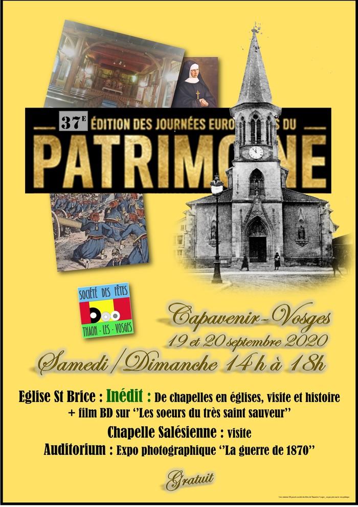 Journées du patrimoine 2020 - Visite guidée de l'Eglise Saint-Brice