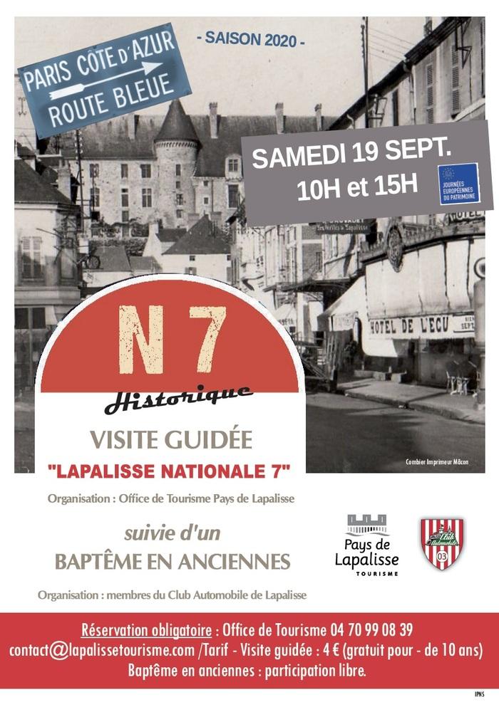 Journées du patrimoine 2020 - Visite guidée Nationale 7 Historique
