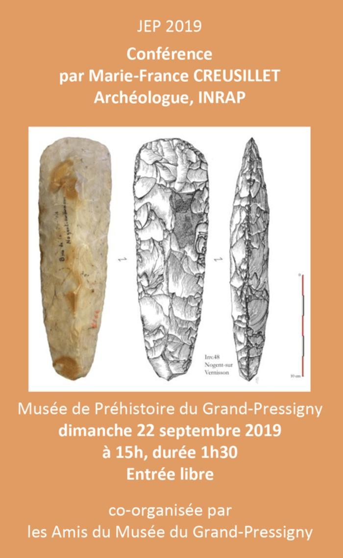 Journées du patrimoine 2019 - « Les ateliers de taille de haches en silex du Gâtinais au Néolithique » par Marie-France Creusillet, archéologue à l'INRAP