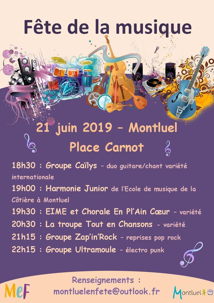 Fête de la musique 2019 - Groupes locaux, harmonies et chorale, chants et életro punk
