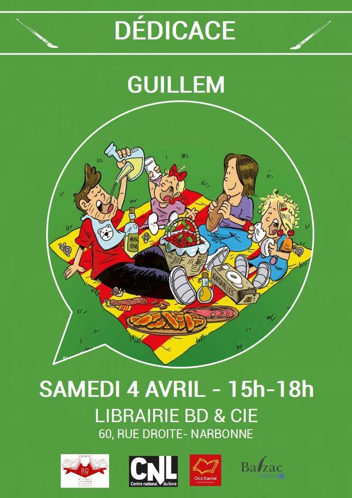 A l'occasion de la sortie du 3e tome de Joan et Valentine, GUILLEM sera en dédicace  à la librairie BD & Cie de Narbonne le samedi 4 avril de 15h à 18h.