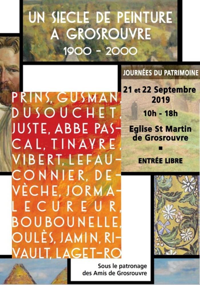 Journées du patrimoine 2019 - Un siècle de peintures à Grosrouvre (1900-2000)
