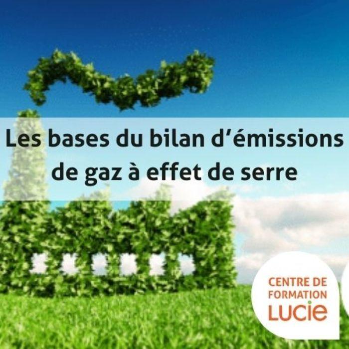 Formation les bases du bilan d'émissions de gaz à effet de serre
