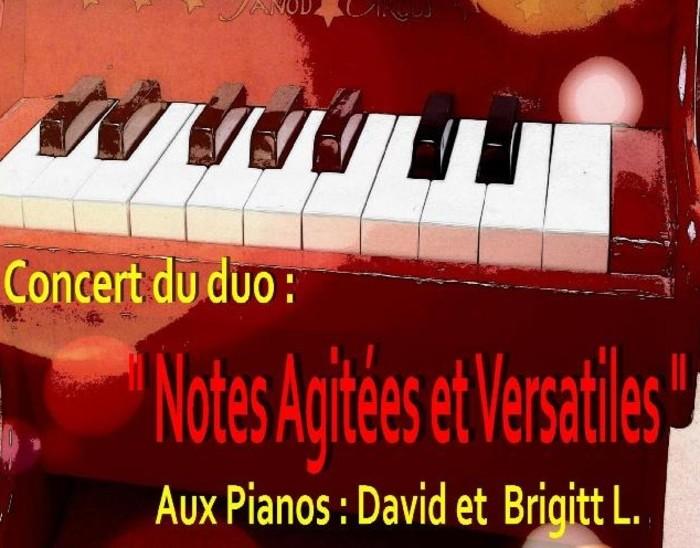 Notes agitées et versatiles : concert duo piano au profit de l'association AUSAJ