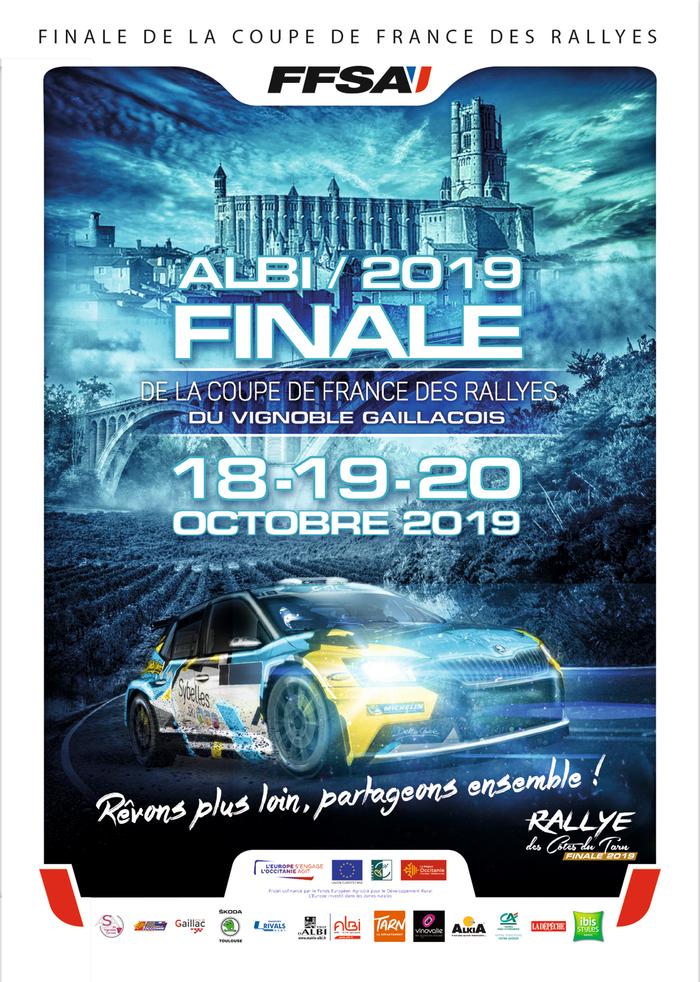 « Albi 2019 Rabastens – Vignoble Gaillacquois » englobe un évènement qui va se dérouler les 18 19 et 20 octobre qui accueille cette année la Finale de la Coupe de France des Rallyes.