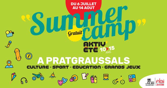 Programmé du 6 juillet au 14 août 2020, le Summer Camp albigeois permet de découvrir de nombreuses activités culturelles ou sportives mais aussi de participer à des loisirs éducatifs.