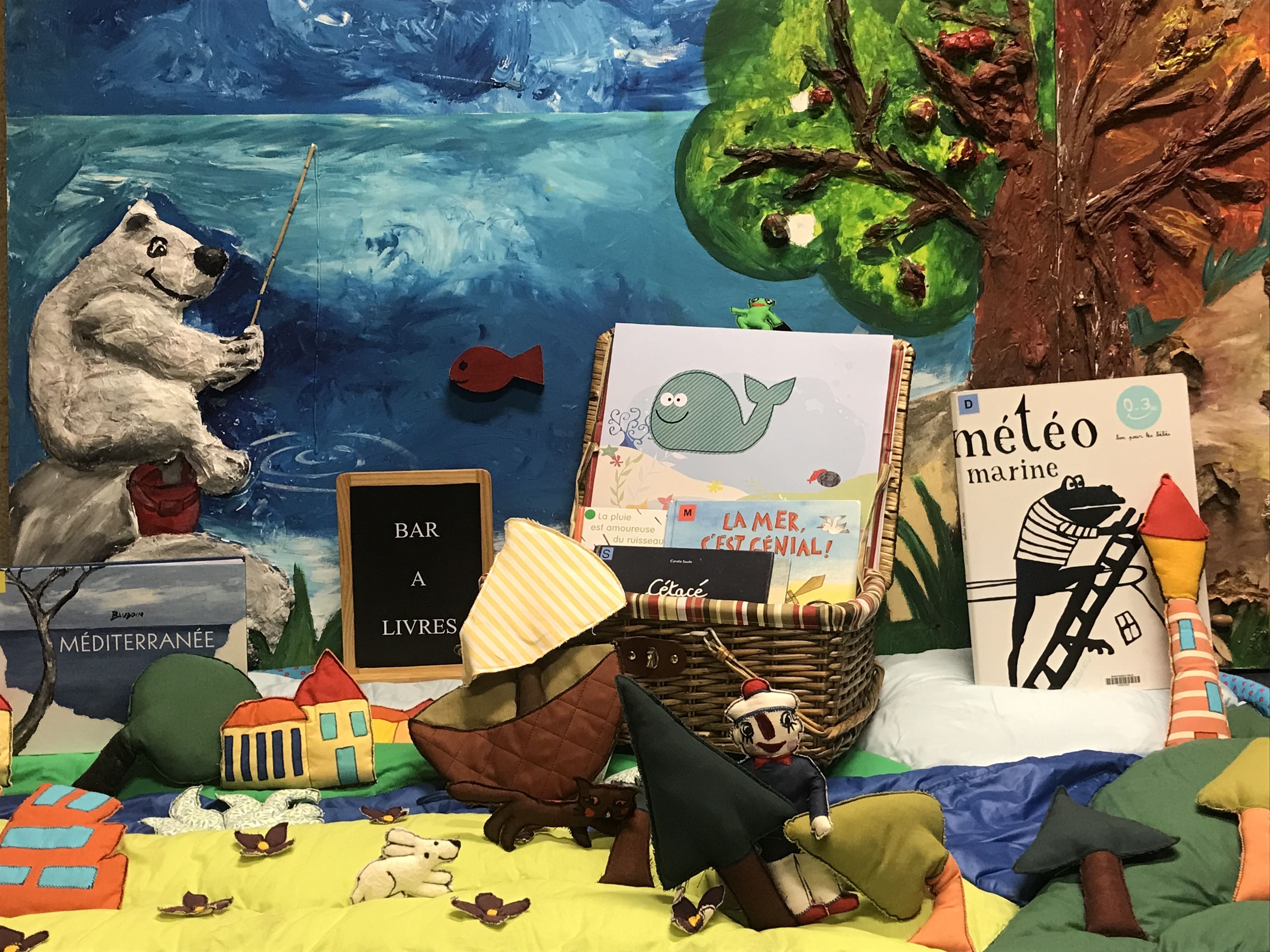 Lectures d'histoires sur le thème de la mer et autres sujets, sur commande des enfants.