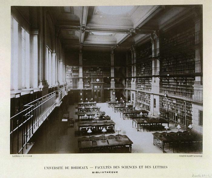 Journées du patrimoine 2020 - Annulé | Visite de la bibliothèque de l'ancien Palais des Facultés de Bordeaux