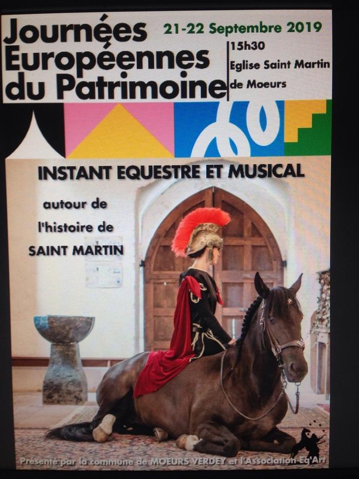 Journées du patrimoine 2019 - Instant équestre et musical dans l'église Saint Martin de Mœurs
