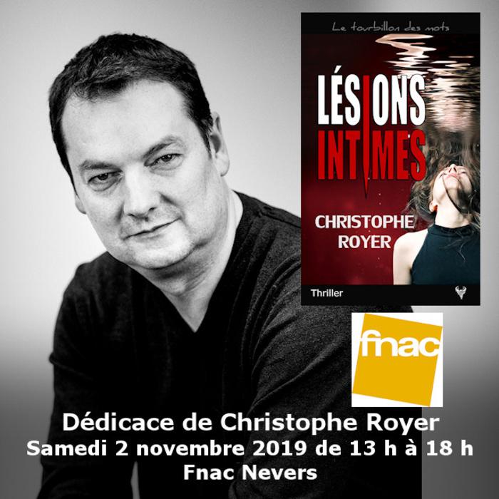 Dédicace Christophe Royer Fnac Nevers 2 novembre