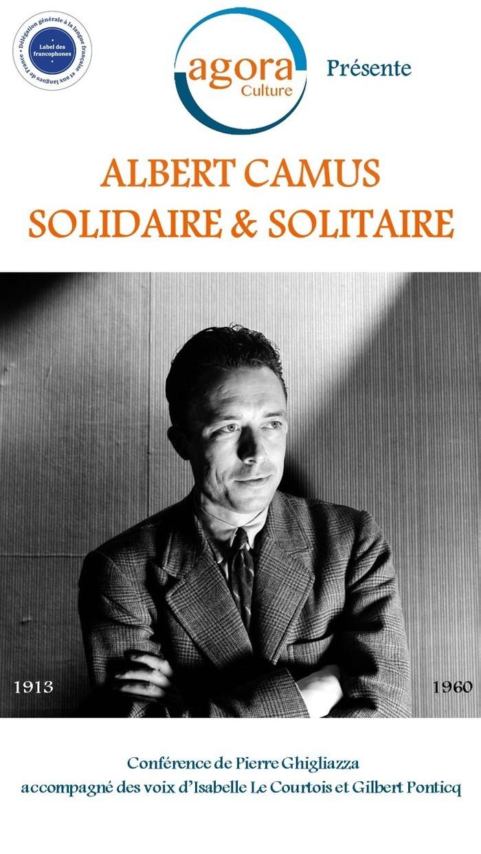 Lecture théâtralisée d'extraits de l'œuvre d'Albert Camus