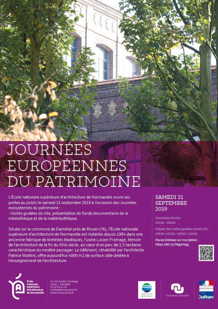 Journées du patrimoine 2019 - Visite guidée de l'école nationale supérieure d'architecture de Normandie