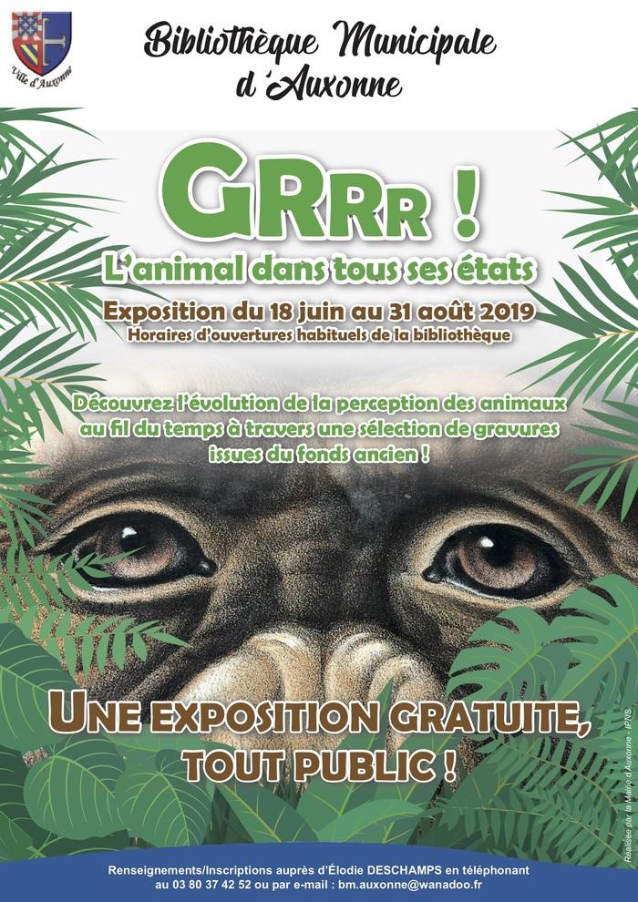 Journées du patrimoine 2019 - Exposition : GRRR ! L'animal dans tous ses états
