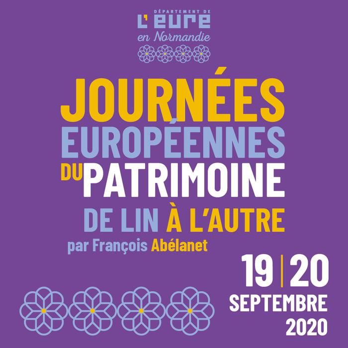 Journées du patrimoine 2020 - Exposition de lin à l'autre - Art éphémère extraordinaire par François Abélanet