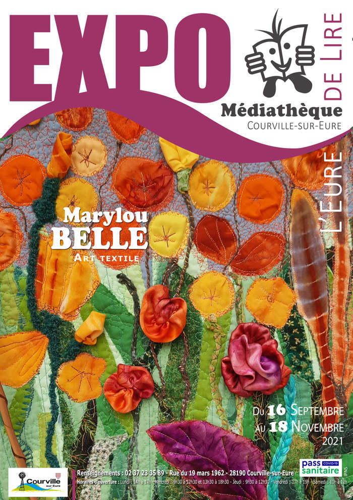 Exposition d'art textile à la médiathèque de Courville du 16/9 au 18/11