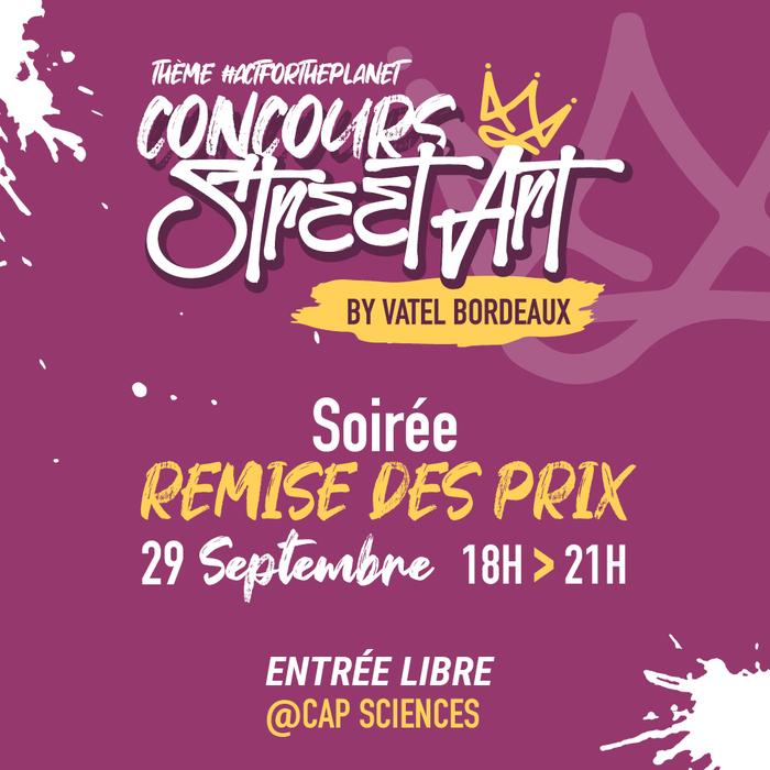 Soirée Remise des Prix – Concours Street Art by Vatel Bordeaux –