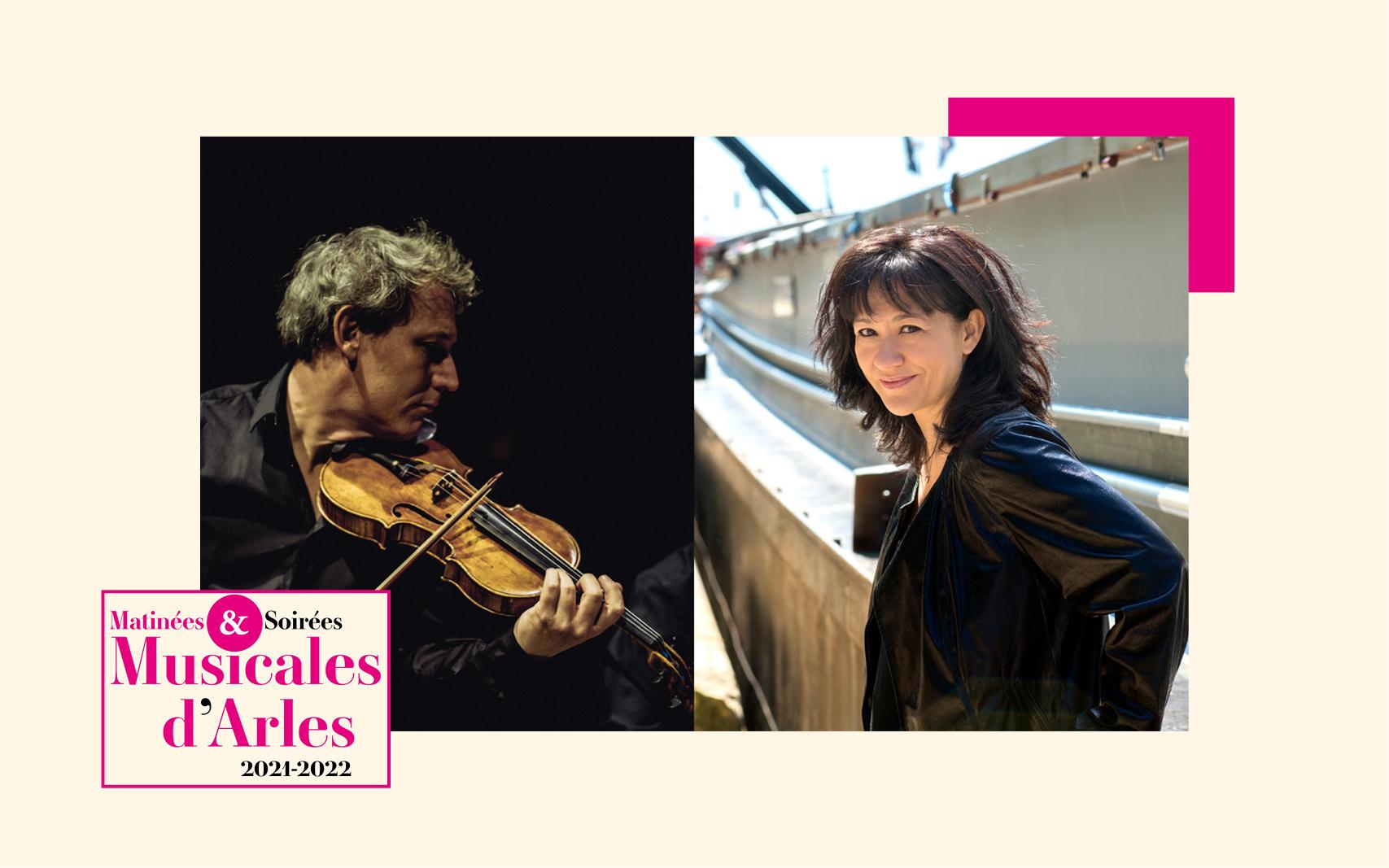 Voilà une affiche remarquable pour lancer la saison 2021-2022 du Méjan, avec ce violoniste hors-norme et cette grande dame du piano français et fidèles des Matinées & Soirées Musicales d'Arles.