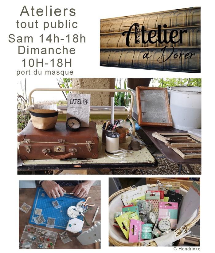 Journées du patrimoine 2020 - Ateliers tout public, bijoux, dessins, petits points, pâte à papier...