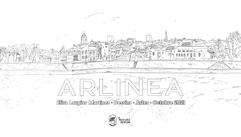 Exposition de dessins au trait d'Arles par Elisa Laugier Martinez, du 8 octobre au 3 novembre 2021, pour le 40e anniversaire de l'inscription d'Arles au patrimoine mondial de l'humanité.
