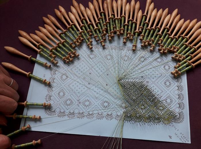 Journées du patrimoine 2019 - Démonstration de la dentelle aux fuseaux