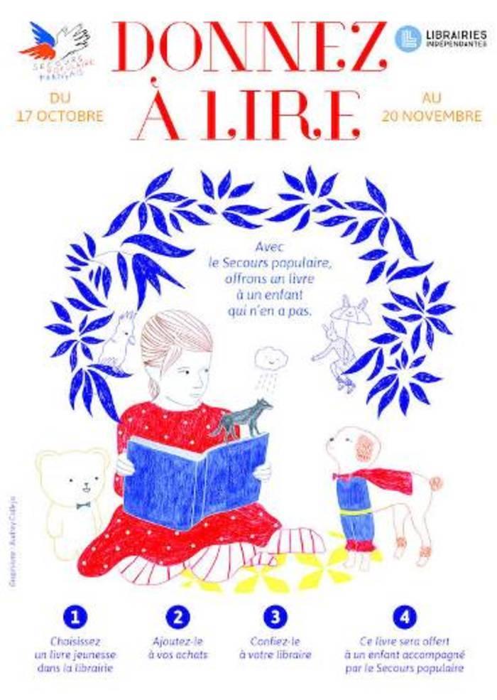 La librairie Vent de soleil invite chacun à ajouter un livre jeunesse à ses achats. Ce livre sera offert à un enfant accompagné par le Secours populaire français.