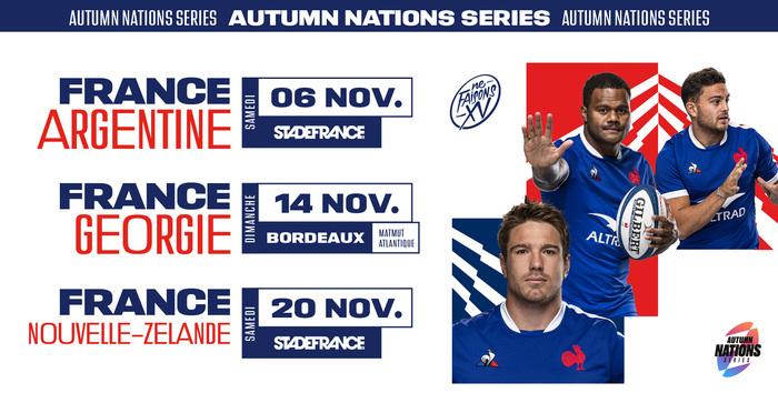 Tournée Autumn Nations Series : France VS Georgie au stade Matmut Bordeaux