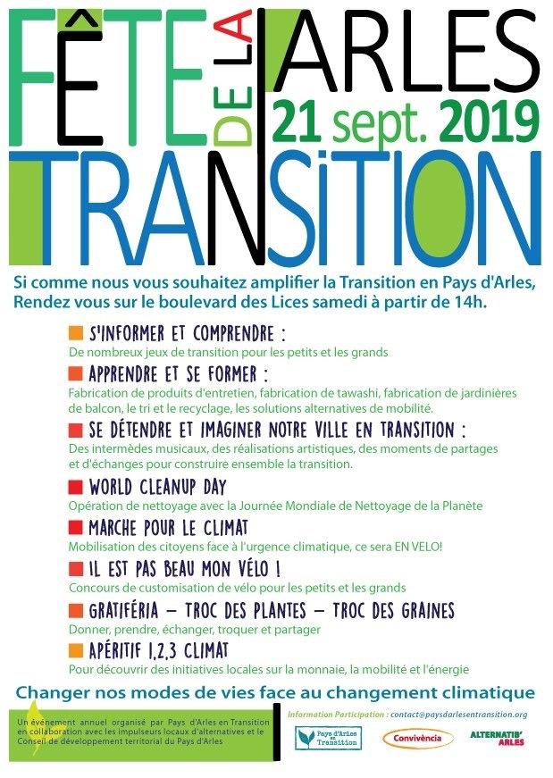 IMPORTANT - REPORT de la FÊTE DE LA TRANSITION du samedi 21 septembre pour raison météo