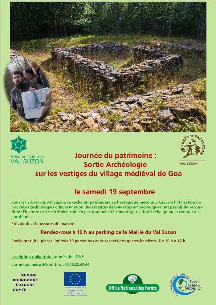 Journées du patrimoine 2020 - Sortie archéologie sur les vestiges du village médiéval de Goa dans le Val Suzon