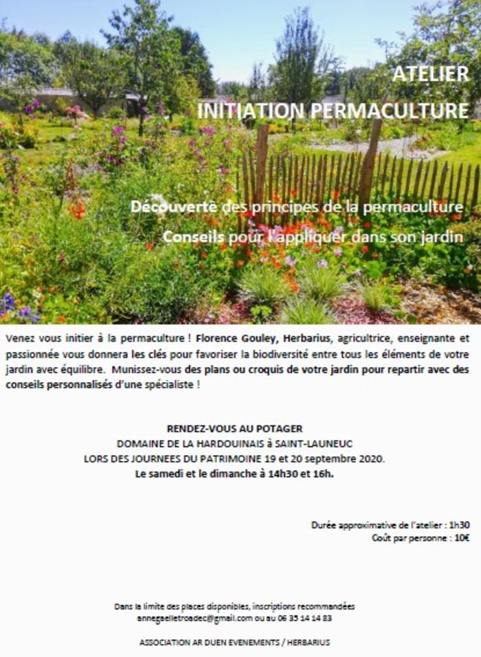 Journées du patrimoine 2020 - Atelier Initiation à la permaculture