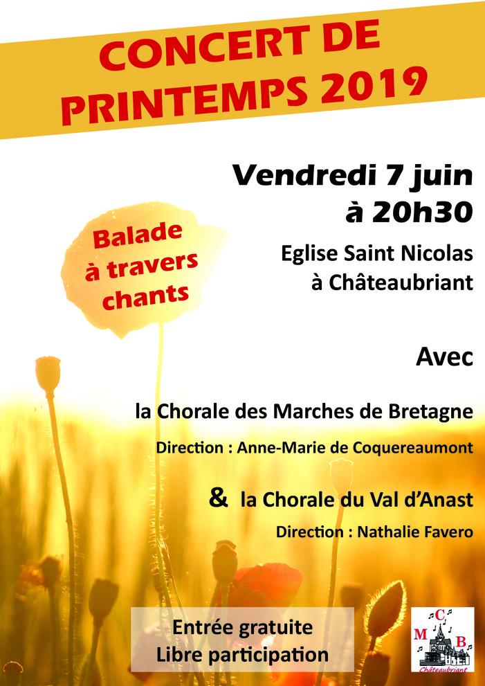 Concert de printemps de la chorale des Marches de Bretagne de Châteaubriant