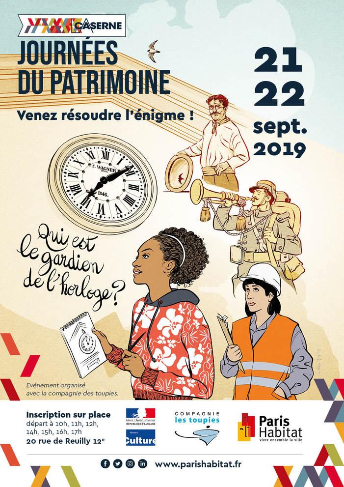 Journées du patrimoine 2019 - L'énigme de la Caserne de Reuilly : qui est le gardien de l'horloge ?