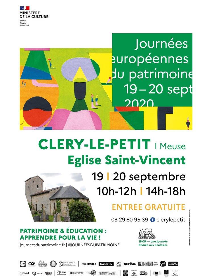 Journées du patrimoine 2020 - Ouverture exceptionnelle de l'église Saint-Vincent