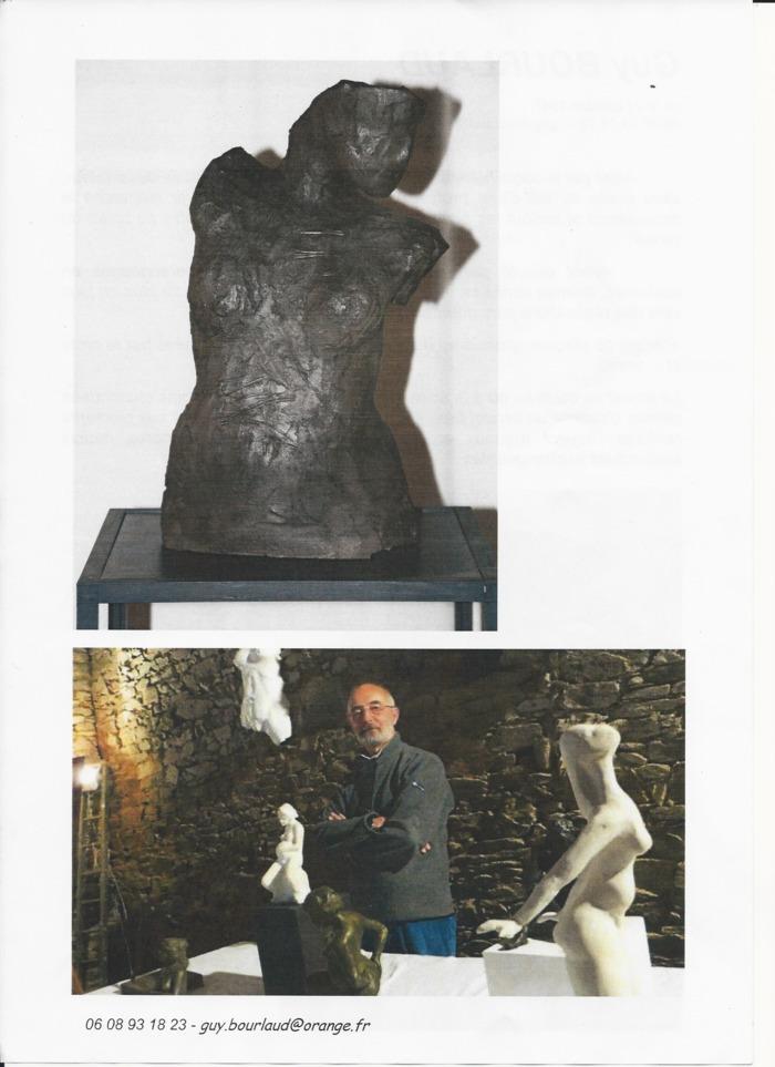 Journées du patrimoine 2019 - Exposition Sculptures Guy BOURLAUD