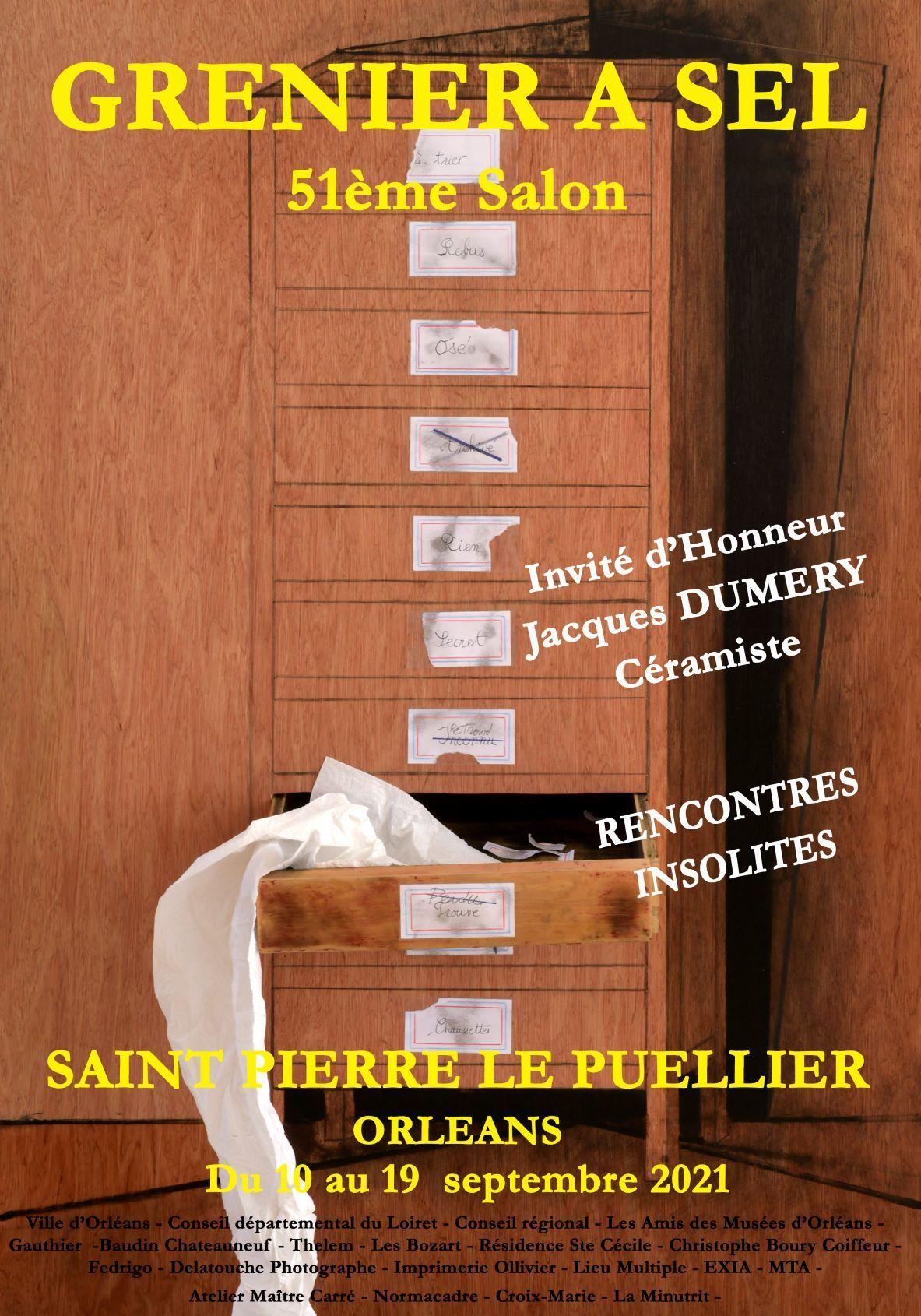 """51° salon du Grenier à sel """"Rencontres insolites"""""""