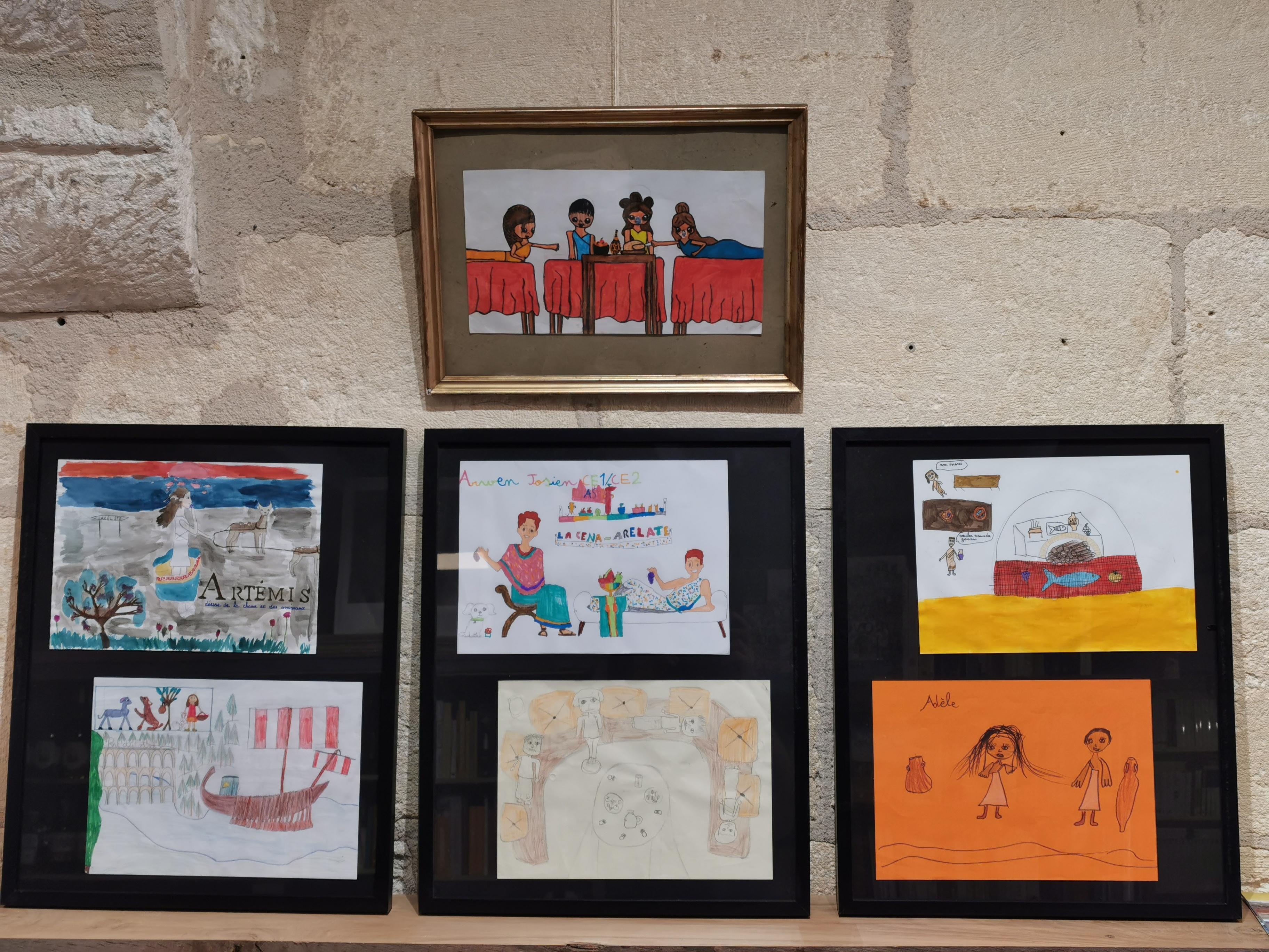 De natura rerum présente jusqu'au 13 août les sept dessins lauréats du concours de dessins qui a été organisé dans 3 écoles primaires arlésiennes par Les P'tits Gallo-romains.