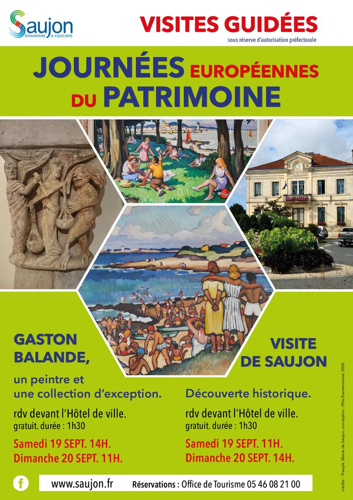 Journées du patrimoine 2020 - Visites guidées à Saujon !