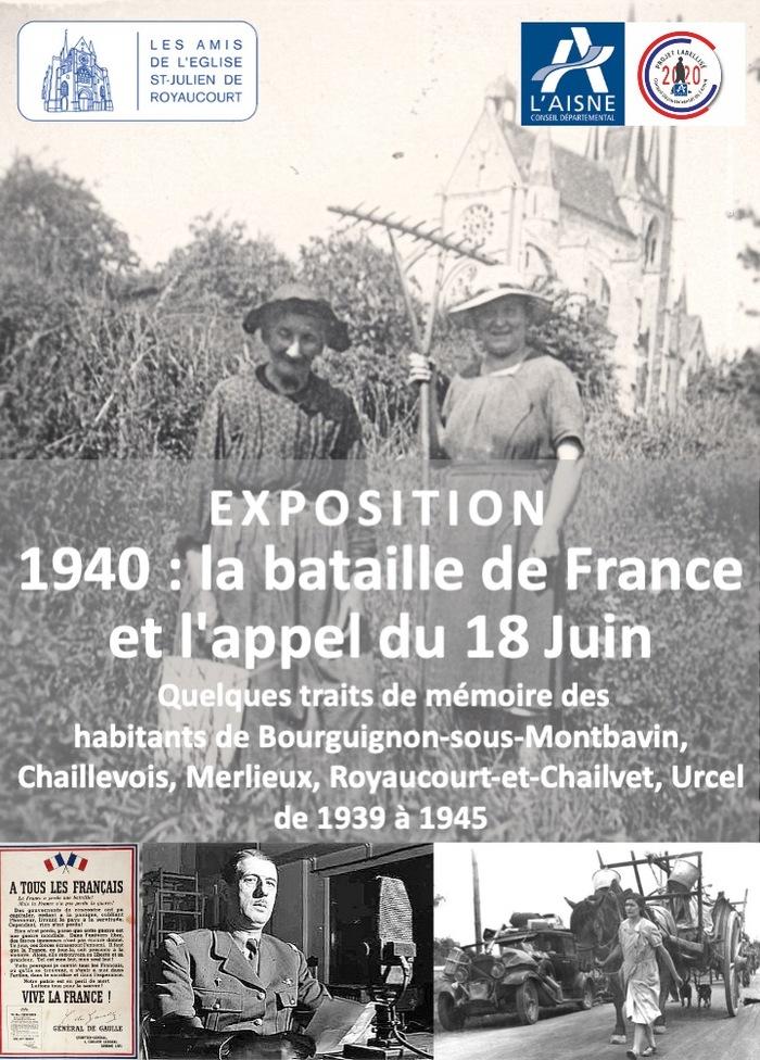 Journées du patrimoine 2020 - 1940 : la bataille de France et l'appel du 18 Juin. Quelques traits de mémoire des habitants de 5 villages du Laonnois