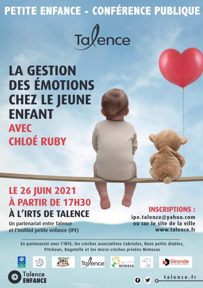 Conférence avec Chloé Ruby «la gestion des émotions chez le jeune enfant»