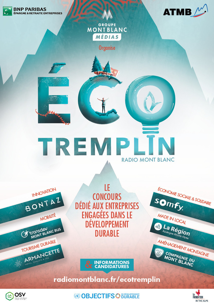 CANDIDATURE (fin le 9 mai) - Concours Eco-tremplin Radio Mont Blanc (73 et 74)