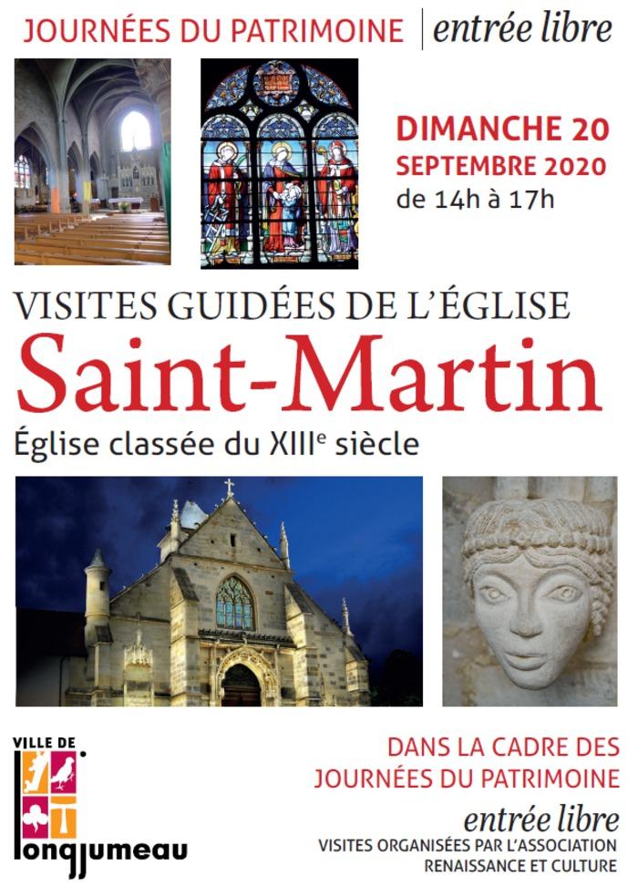Journées du patrimoine 2020 - Visite guidée de l'église Saint Martin à Longjumeau