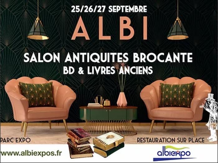 Du Vendredi 24  au 26 Septembre, le salon Antiquités Brocante ouvrira ses portes au Parc des Expositions d'Albi. Les BD et livres anciens font leur apparition cette année sur notre événement.