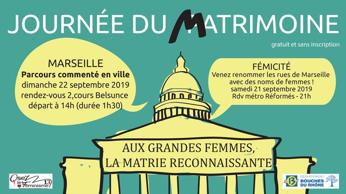 Journées du patrimoine 2019 - MATRIMOINE, parcours commenté à la découverte de femmes formidables !