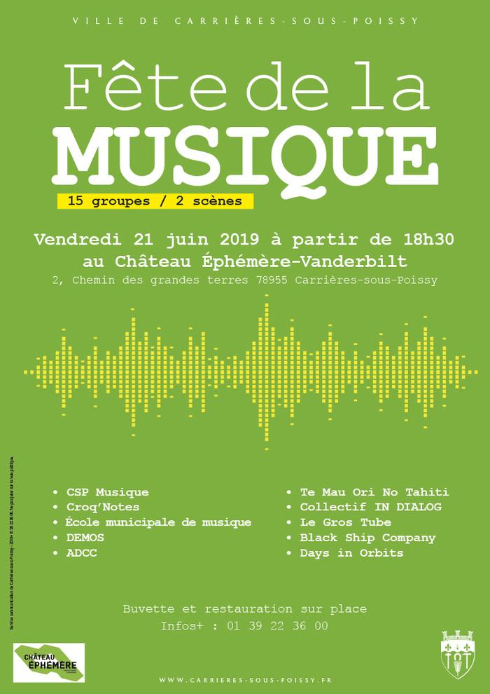 Fête de la musique 2019 - Soirée musicale 15 groupes / 2 scènes