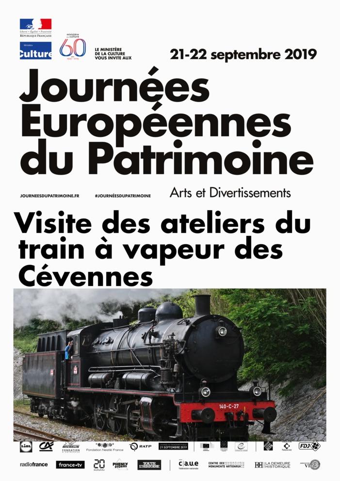 Journées du patrimoine 2019 - Découverte des ateliers du train à vapeur des Cévennes !