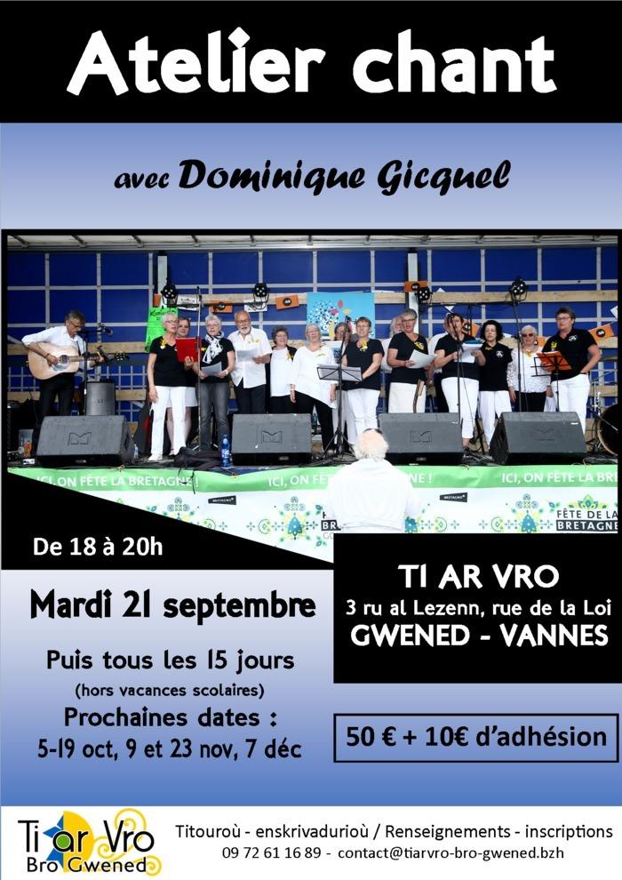 Atelier de chants avec Dominique Gicquel