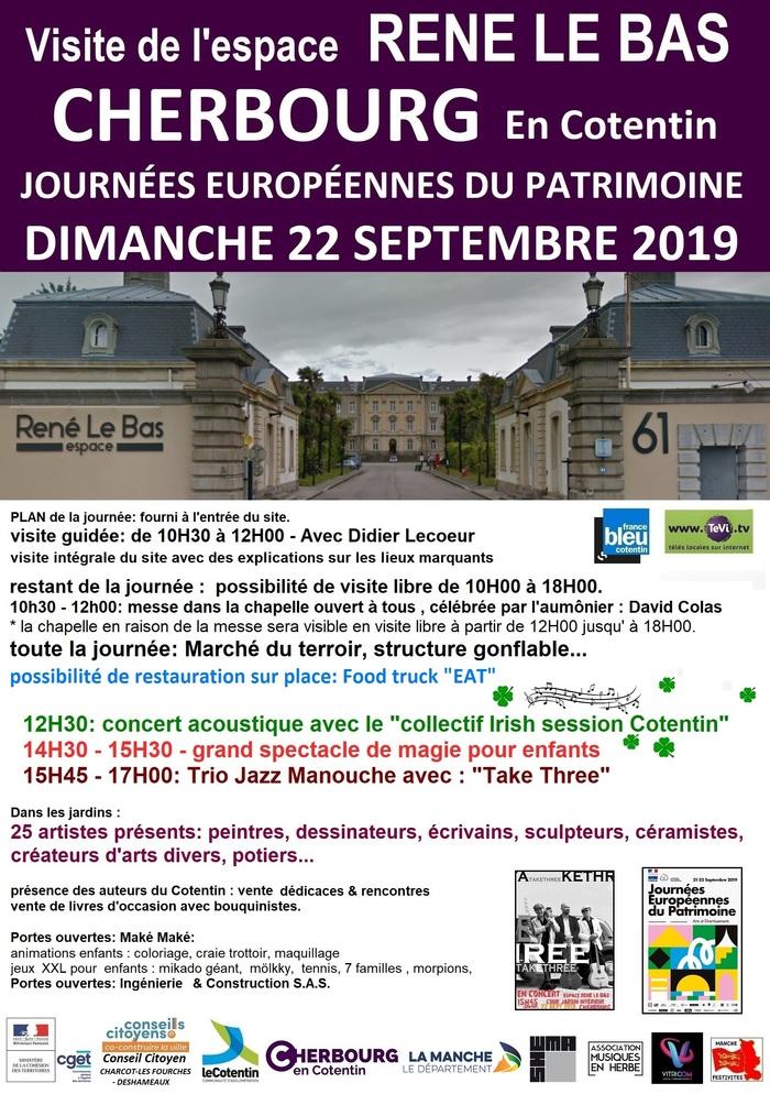 Journées du patrimoine 2019 - Visite libre de l'espace René Le Bas
