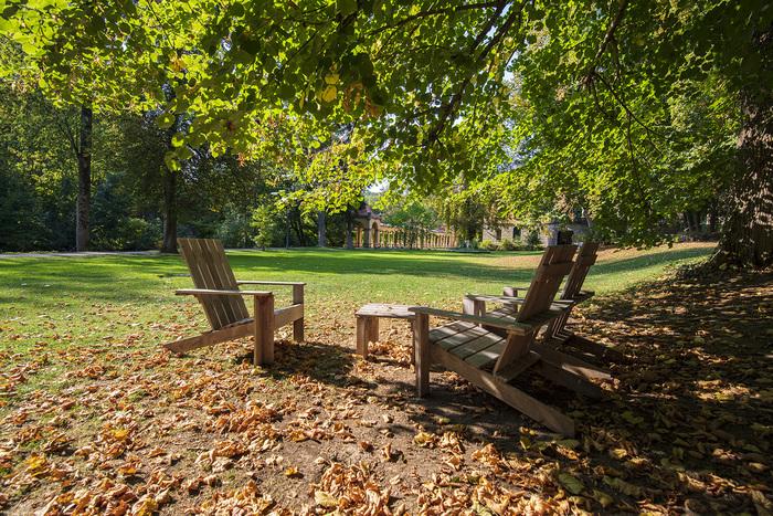 Der Park des Wildbads in Rothenburg ob der Tauber - Bequemer Gartengenuss und schöne Spaziergänge